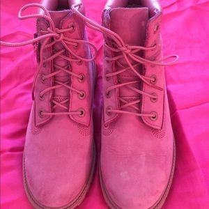 Timberland Pink Suede Boots